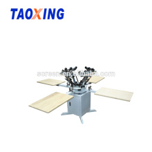 manual 4 color t-shirt screen printer